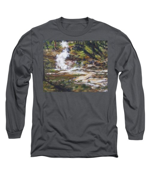 Trail To The Artists Paint Pots - Yellowstone Long Sleeve T-Shirt