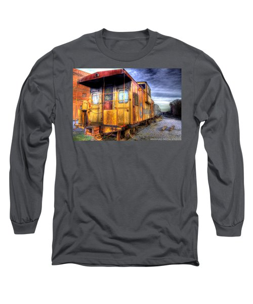 Train Caboose Long Sleeve T-Shirt by Jonny D