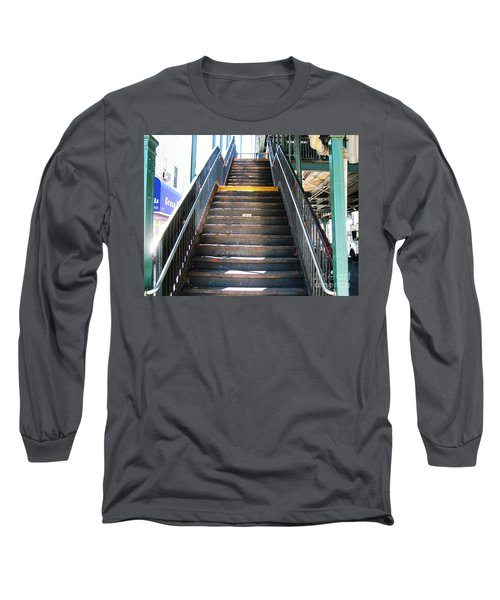 Train Staircase Long Sleeve T-Shirt