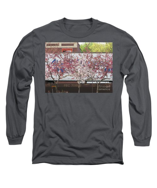 Long Sleeve T-Shirt featuring the photograph Train Tracks by Michael Krek
