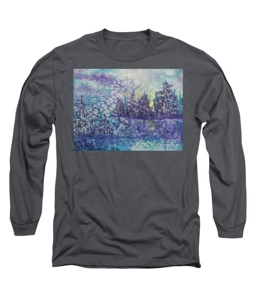 Long Sleeve T-Shirt featuring the painting Tranquility by Ellen Levinson