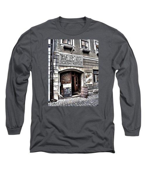 Long Sleeve T-Shirt featuring the photograph Travellers Hostel - Cesky Krumlov by Juergen Weiss