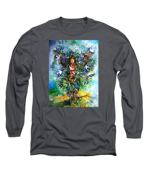 Tree Of Life  Long Sleeve T-Shirt by Trudi Doyle