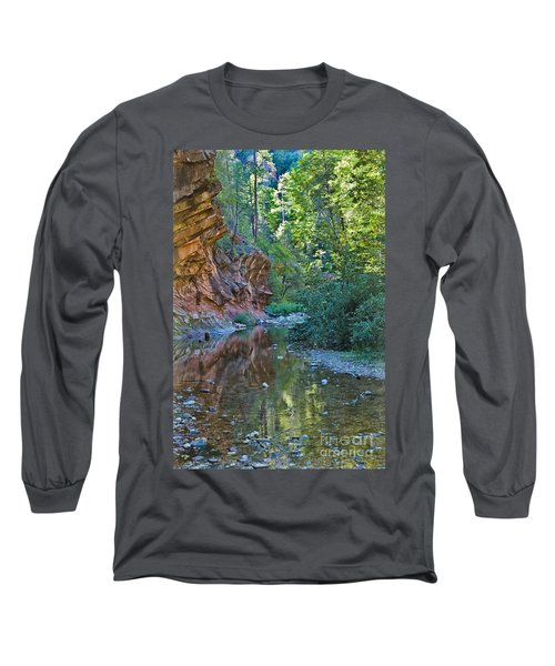 Long Sleeve T-Shirt featuring the photograph Tree Reflection by Mae Wertz