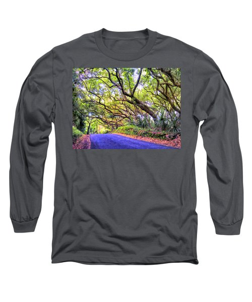 Tree Tunnel On The Big Island Long Sleeve T-Shirt