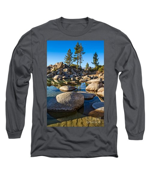 Trees And Rocks Long Sleeve T-Shirt