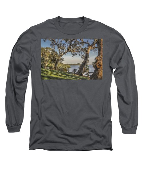Long Sleeve T-Shirt featuring the photograph Trees With A View by Jane Luxton