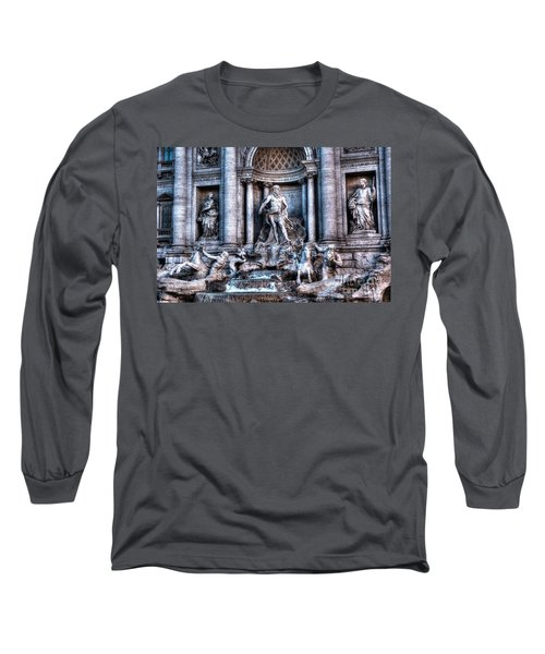 Long Sleeve T-Shirt featuring the photograph Trevi Fountain by Joe  Ng
