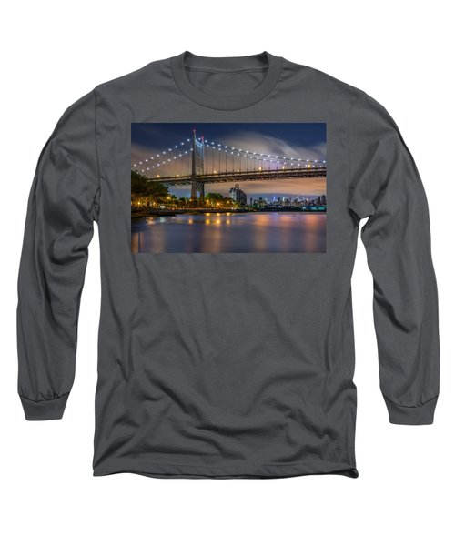 Long Sleeve T-Shirt featuring the photograph Triboro Bridge by Mihai Andritoiu