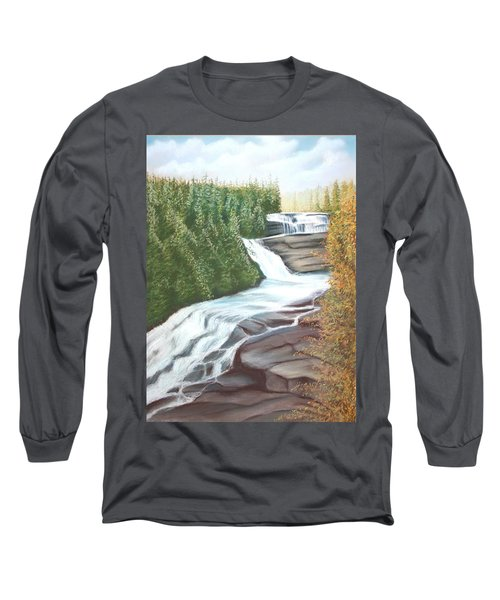 Triple Falls Long Sleeve T-Shirt by Stacy C Bottoms