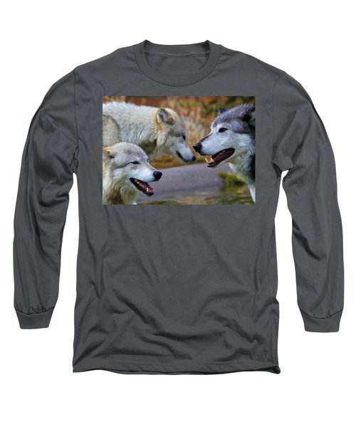 Triple Take Painted Long Sleeve T-Shirt by Athena Mckinzie
