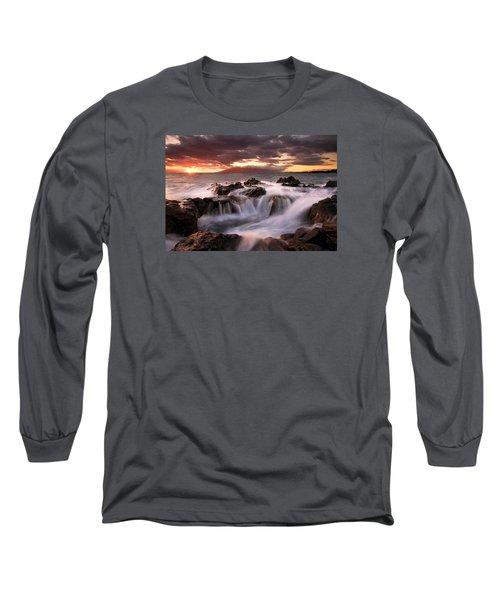 Long Sleeve T-Shirt featuring the photograph Tropical Cauldron by Mike  Dawson