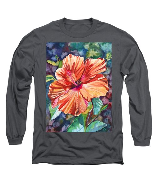 Tropical Hibiscus 5 Long Sleeve T-Shirt