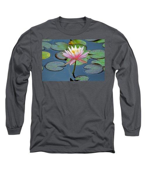 Tropical Pink Lily Long Sleeve T-Shirt by Cynthia Guinn