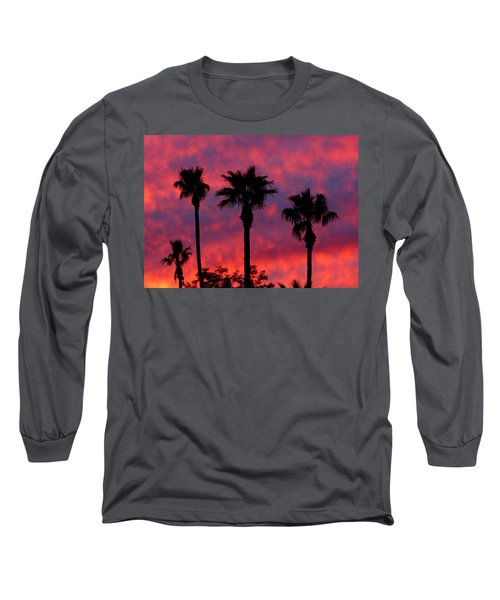 Tropical Sunset Long Sleeve T-Shirt by Laurel Powell