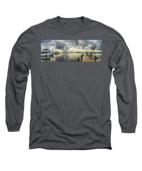 Long Sleeve T-Shirt featuring the digital art Tropical Winds In Orange Beach by Michael Thomas