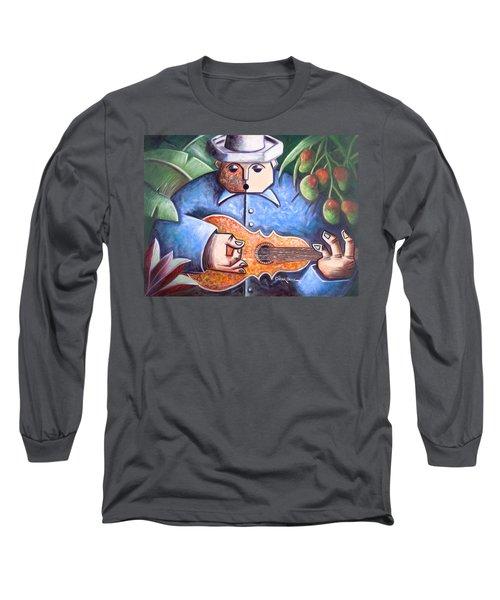 Trovador De Mango Bajito Long Sleeve T-Shirt by Oscar Ortiz