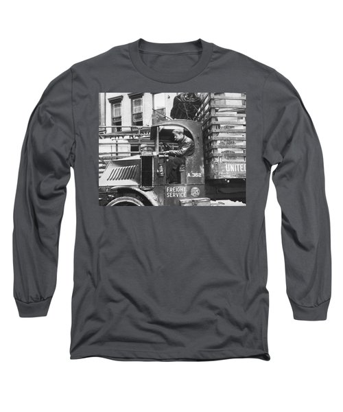 Truck Driver In His Cab Long Sleeve T-Shirt