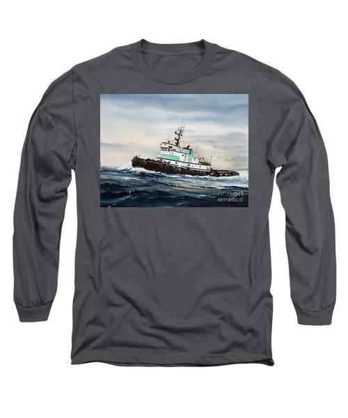 Tugboat Island Champion Long Sleeve T-Shirt by James Williamson