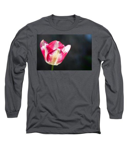 Tulip On Black Long Sleeve T-Shirt