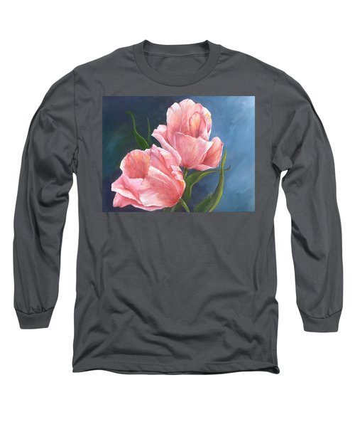 Long Sleeve T-Shirt featuring the painting Tulip Waltz by Sherry Shipley