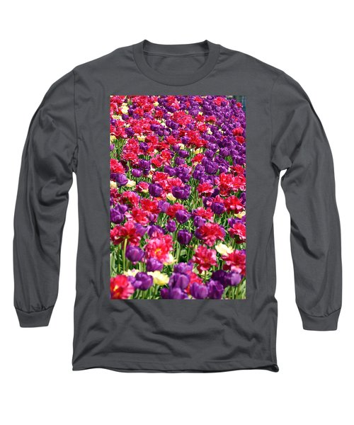 Tulips In A Meadow Long Sleeve T-Shirt