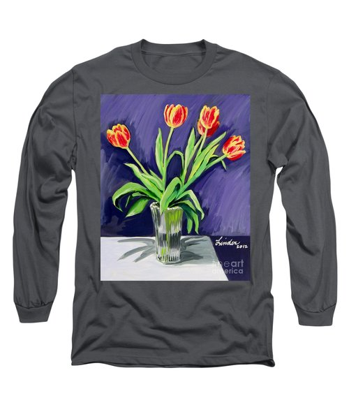 Tulips On The Table Long Sleeve T-Shirt