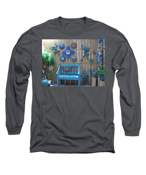 Long Sleeve T-Shirt featuring the photograph Turquoise Corner by Dora Sofia Caputo Photographic Art and Design