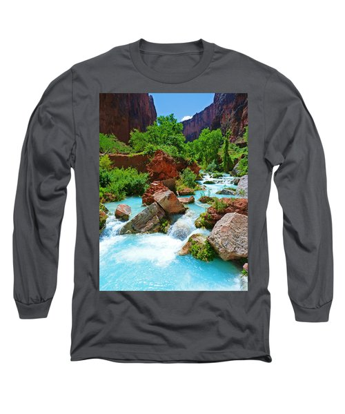 Turquoise Stream Long Sleeve T-Shirt