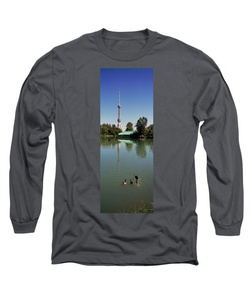 Tv Tower At The Lakeside, Tashkent Tv Long Sleeve T-Shirt