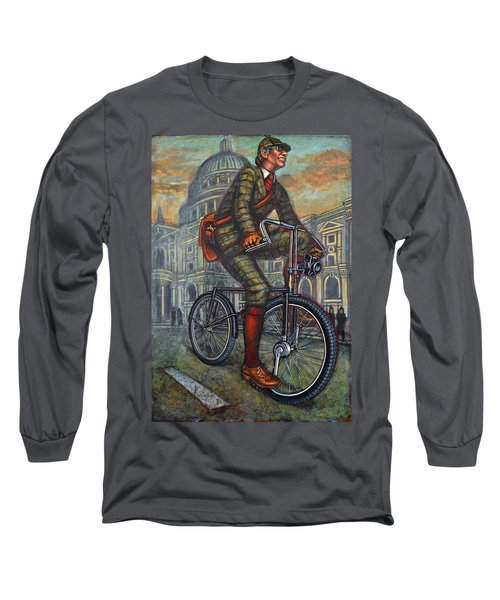 Bob On His Bantam St Pauls London Long Sleeve T-Shirt