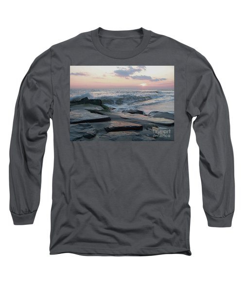 Twilight At Cape May In October Long Sleeve T-Shirt by Eric  Schiabor