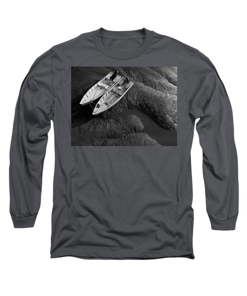 Two Boats At Low Tide Long Sleeve T-Shirt