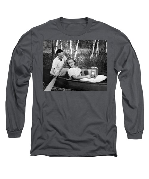 Two Lovers In A Canoe Long Sleeve T-Shirt