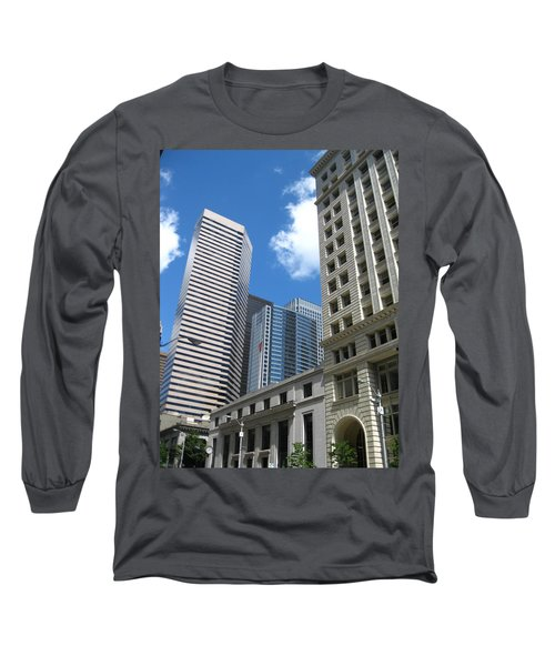 Under Seattle Blue Long Sleeve T-Shirt by David Trotter