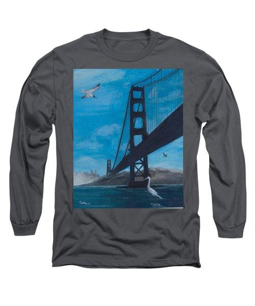 Under The Golden Gate Bridge Long Sleeve T-Shirt