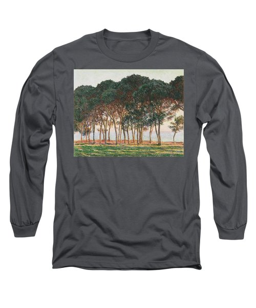 Under The Pines. Evening Long Sleeve T-Shirt by Claude Monet