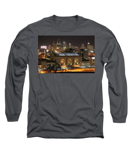 Union Station At Night Long Sleeve T-Shirt by Lynn Sprowl