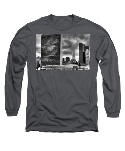 United Nations And Chrysler Building Long Sleeve T-Shirt