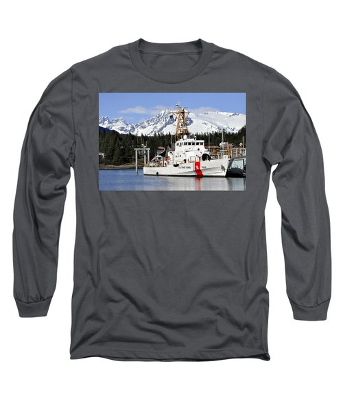 United States Coast Guard Cutter Liberty Long Sleeve T-Shirt by Cathy Mahnke