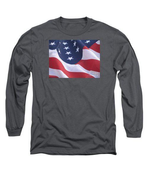 Long Sleeve T-Shirt featuring the photograph United States Flag  by Chrisann Ellis