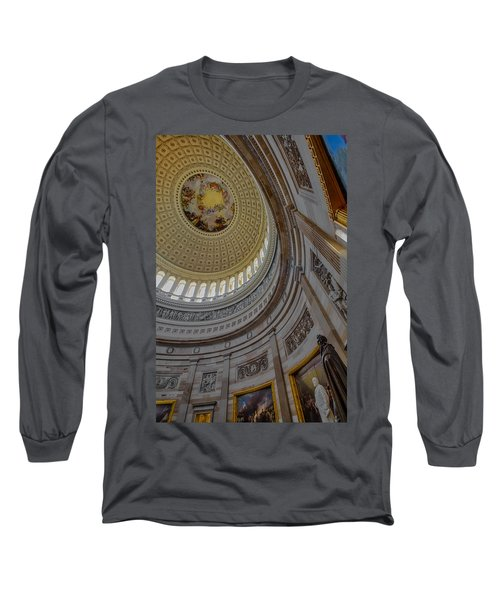 Long Sleeve T-Shirt featuring the photograph Unites States Capitol Rotunda by Susan Candelario