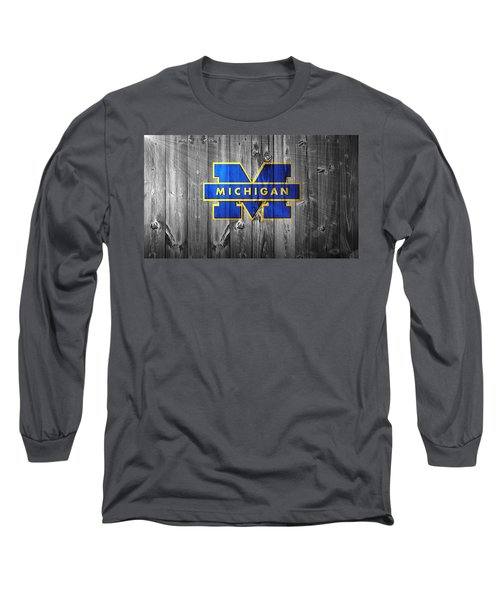 University Of Michigan Long Sleeve T-Shirt by Dan Sproul