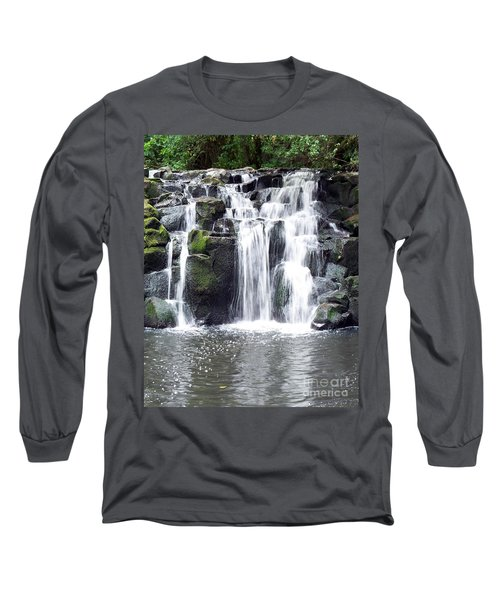 Long Sleeve T-Shirt featuring the photograph Upper Beaver Falls by Chalet Roome-Rigdon