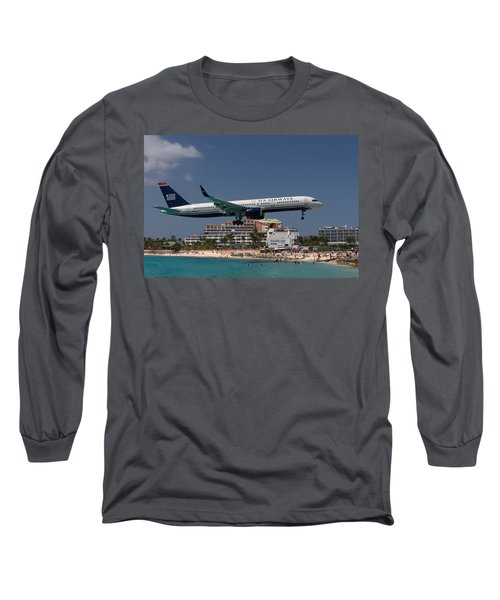 U S Airways At St Maarten Long Sleeve T-Shirt