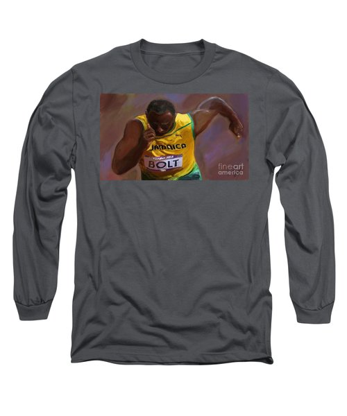 Usain Bolt 2012 Olympics Long Sleeve T-Shirt