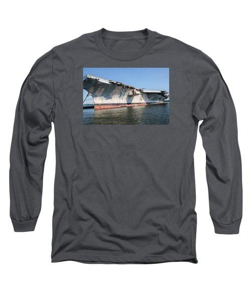 Uss John F. Kennedy Long Sleeve T-Shirt by Susan  McMenamin