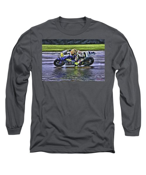 Valentino Rossi At Indy Long Sleeve T-Shirt