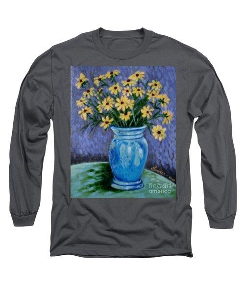 Van Gogh-ish Flowers In A Vase Long Sleeve T-Shirt