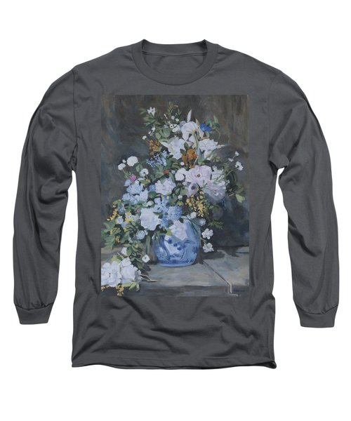 Vase Of Flowers - Reproduction Long Sleeve T-Shirt
